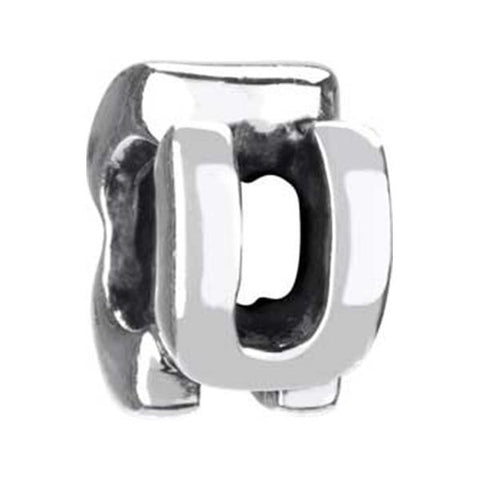"Silver Bead - Letter ""U"" - Chamilia - Centerville C&J Connection, Inc."