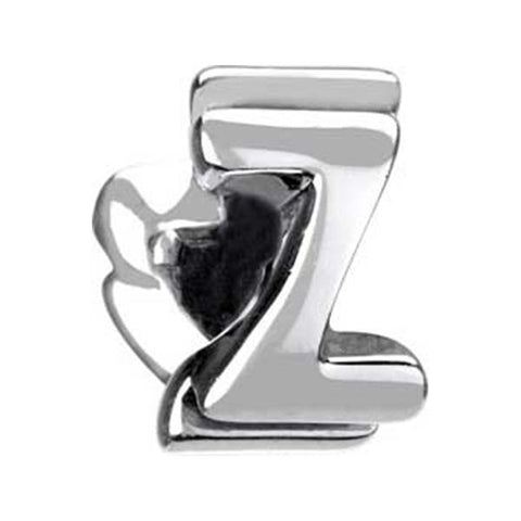 "Silver Bead - Letter ""Z"" - Chamilia - Centerville C&J Connection, Inc."
