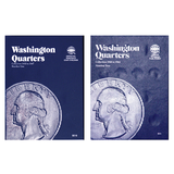 Washington Quarter Starter Collection Kit, Part One, Whitman [9018] Washington Quarter Folder Vol. 1, [9031] Folder Vol. 2, Five Silver Quarters, Magnifier and Checklist, (9 Items) Great for Beginners - Centerville C&J Connection, Inc.