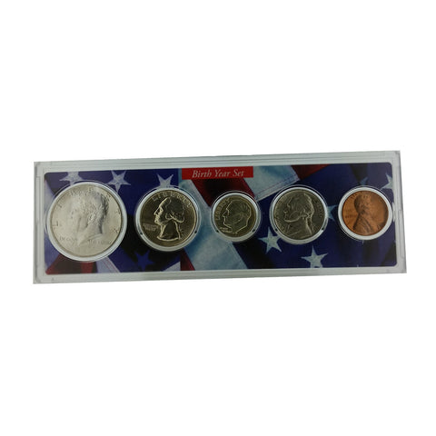 1995 Year Coin Set & Greeting Card : 22nd Birthday or 22nd