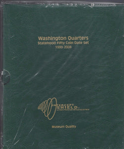 Washington Statehood Quarters 1999 - 2008 Date Set, Intercept Shield Album - Centerville C&J Connection, Inc.