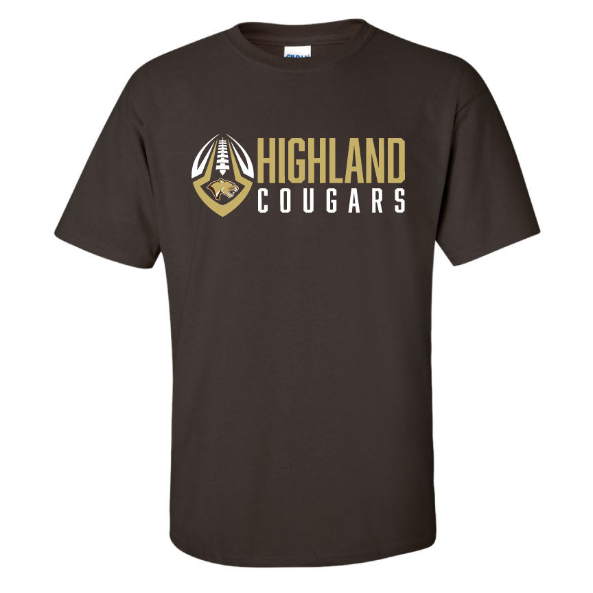 Adult T-shirt (Vegas Gold and Brown)