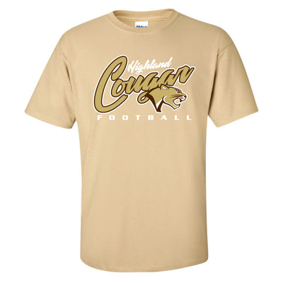 Adult T-shirt (VegasGold and Brown)