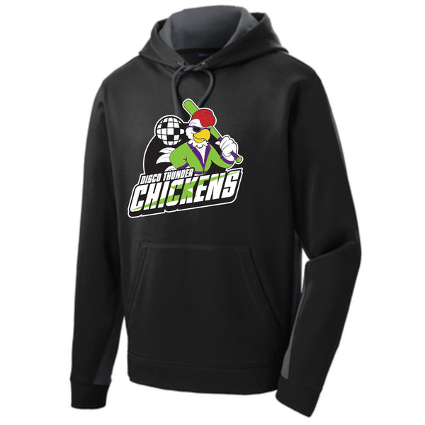 Disco Thunder Chickens Colorblock Hoodie