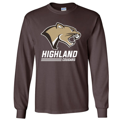 Highland Long Sleeve Tee Stack Cougar
