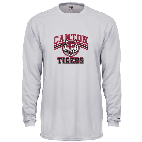 Canton Youth Drifit Long Sleeve Vintage Tiger