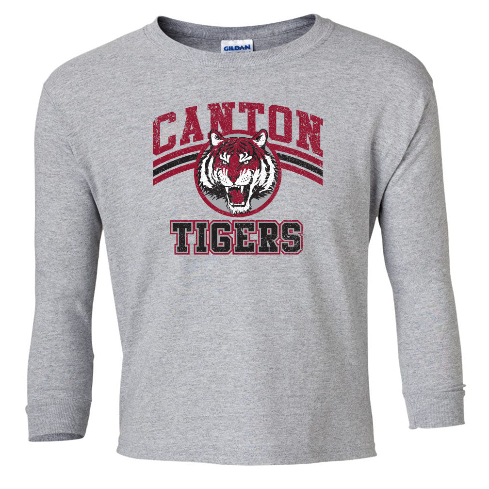 Canton Youth Long Sleeve Vintage Tiger