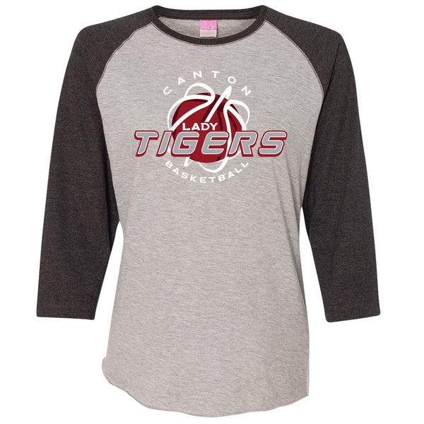 Canton Basketball Ladies Baseball T-Shirt
