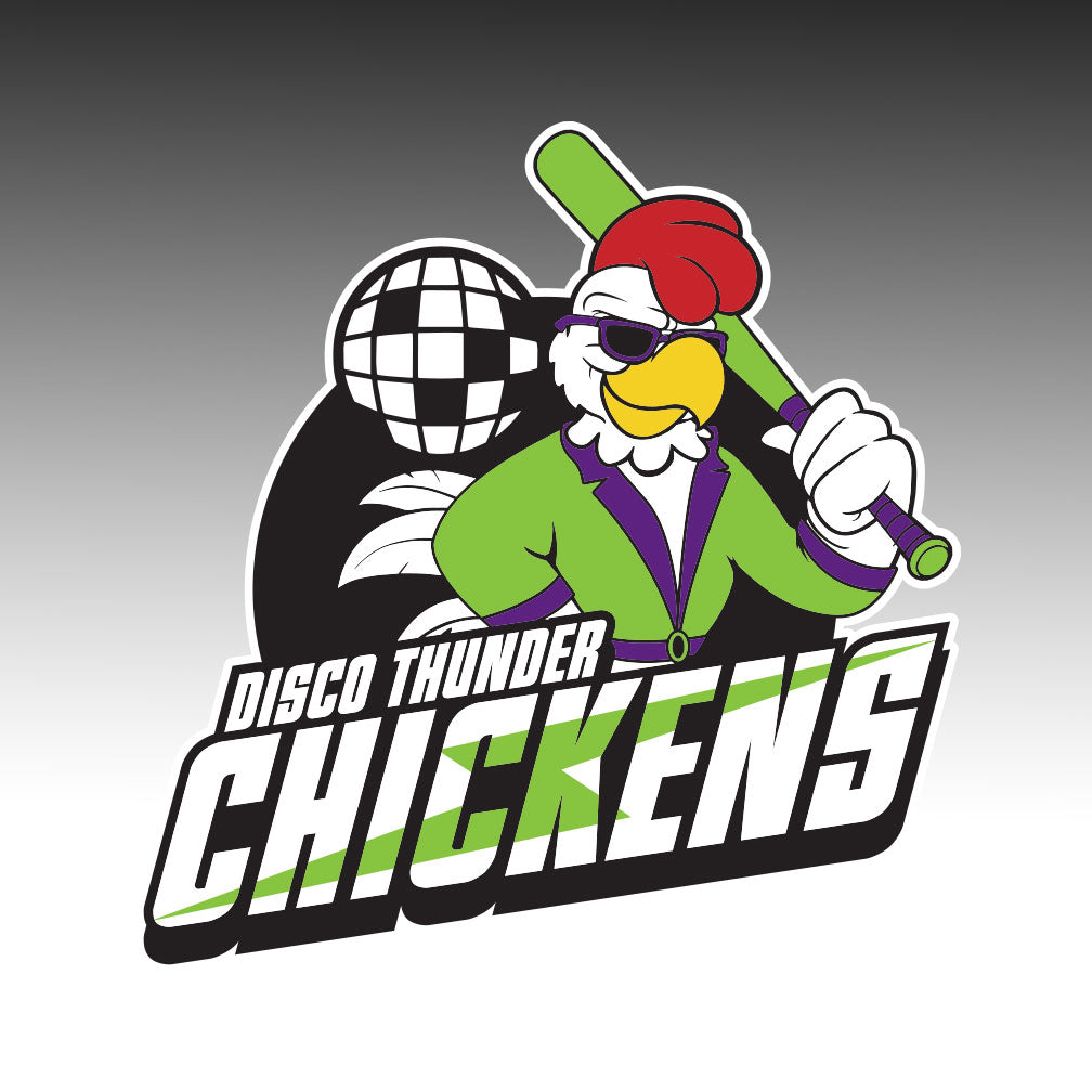 Disco Thunder Chickens Window Decal