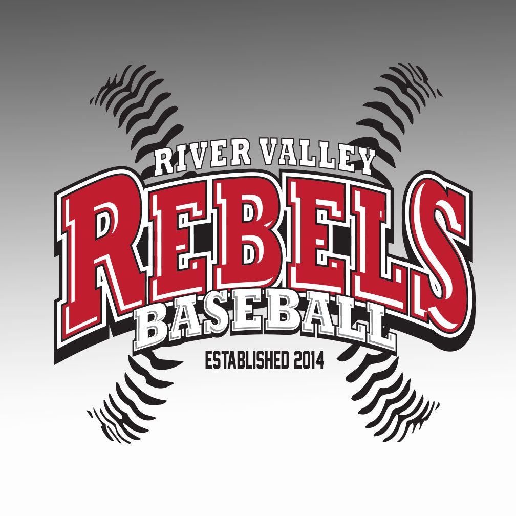 River Valley Rebels Baseball Window Decal