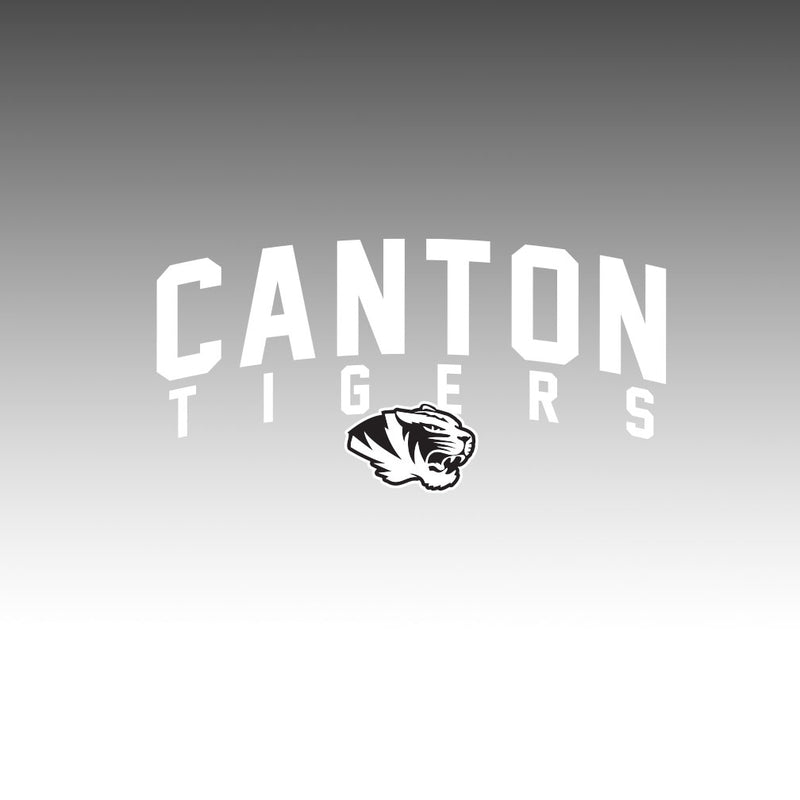 Canton Window Decal Arched Tiger