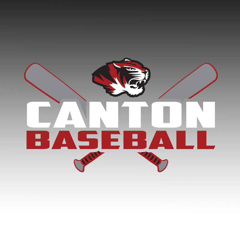 Canton Baseball Window Decal