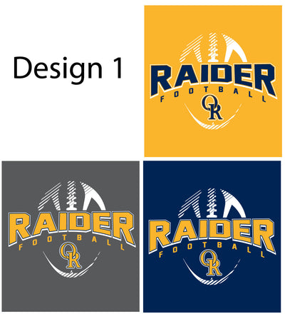 Raider Football 2019 V-Neck Vintage Tee