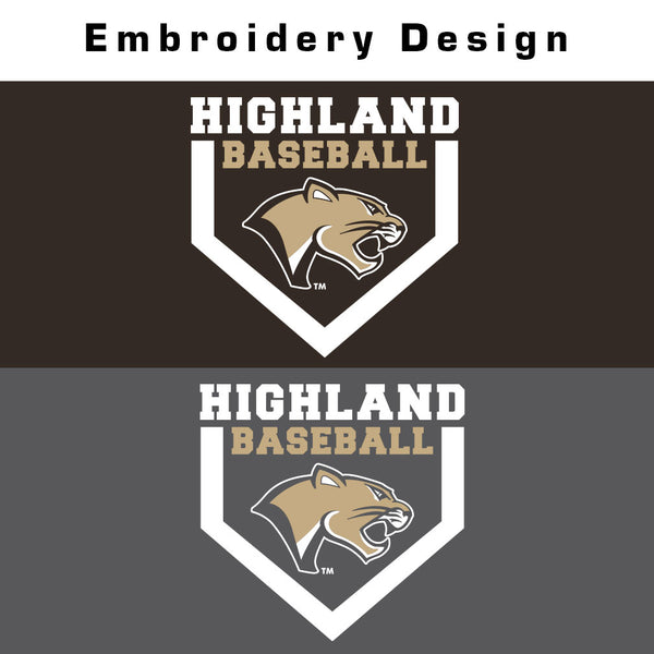 Highland Baseball Fleece Lined 1/4 Zip