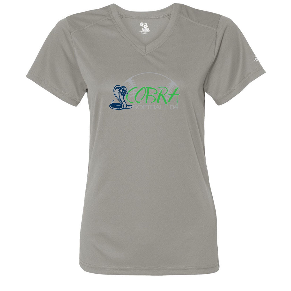 Cobras Ladies V-Neck Drift Tee