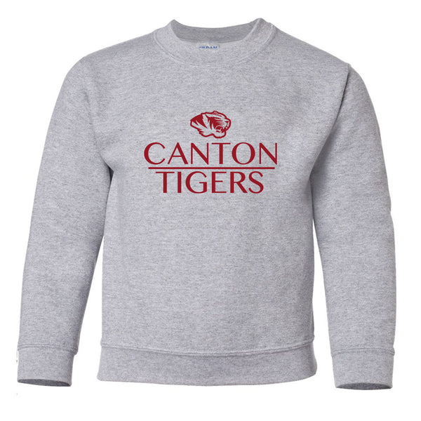 Canton Youth Sweatshirt Stacked Tiger