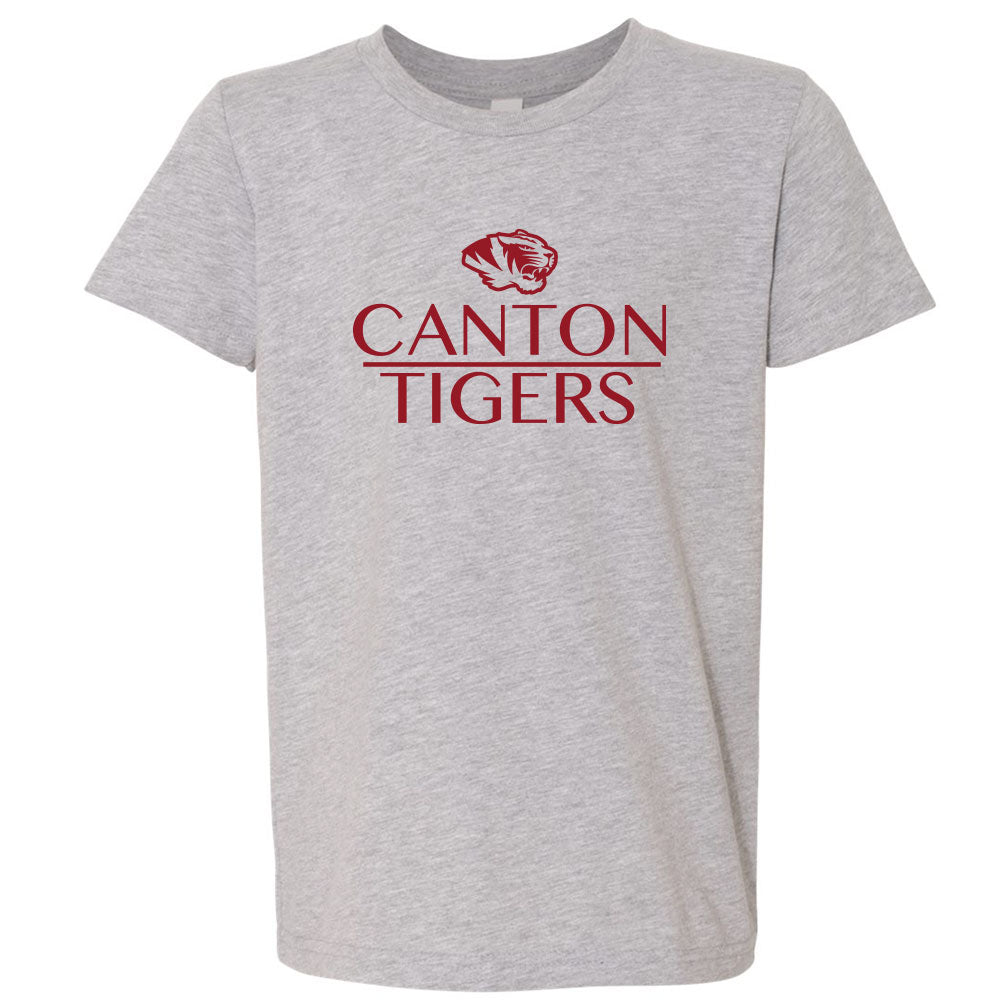 Canton Youth Softstyle Tee Stack Tiger