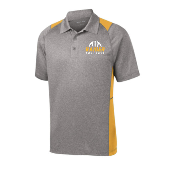 Raider Football 2019 ColorBlock Drifit Polo