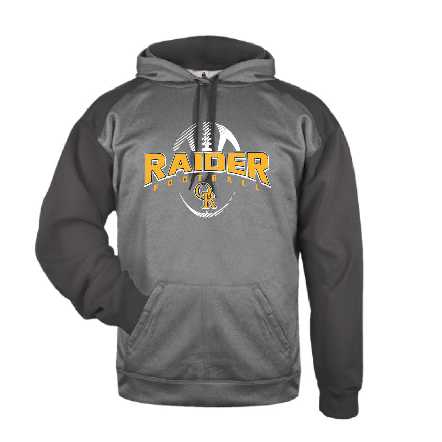 Raider Football 2019 Tonal Blend Drifit Hoodie