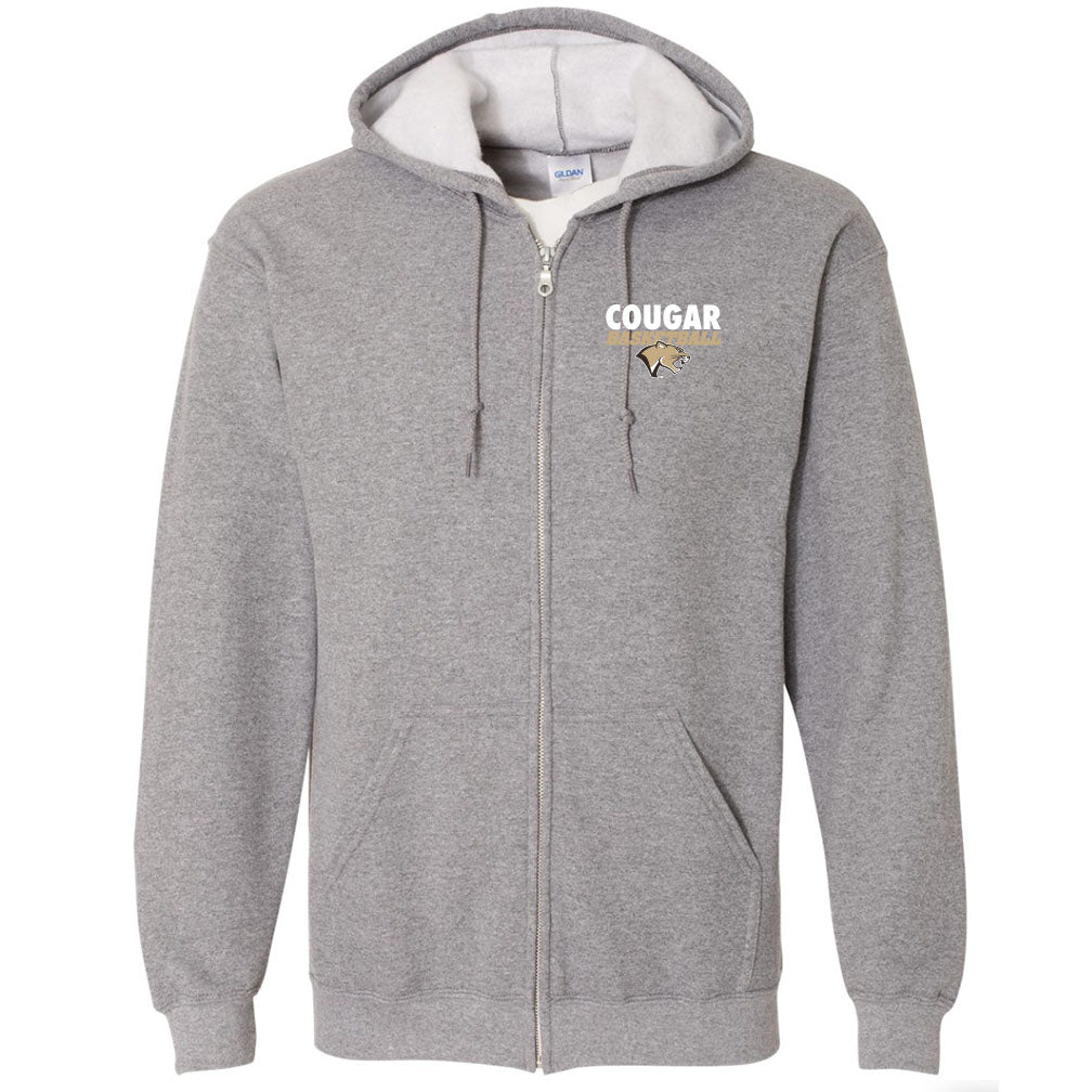 Highland Basketball Full Zip Hooded Sweatshirt