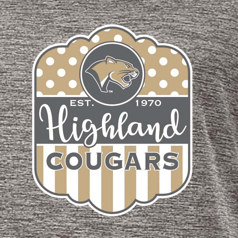 Highland Ladies Electrify V-Neck T-Shirt HHS Design