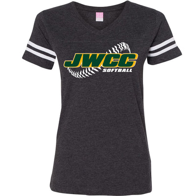 John Wood Softball Woman's Vintage V-Neck