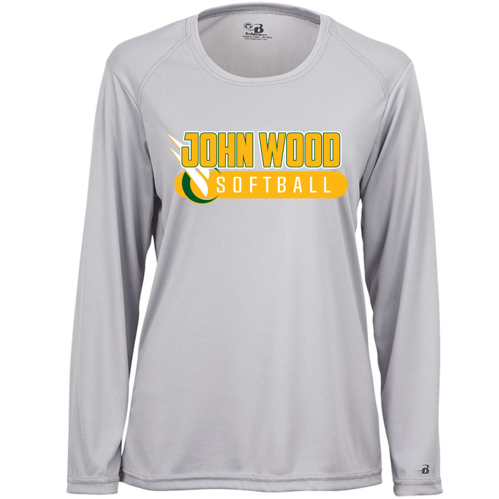 John Wood Softball Woman's Drifit Long Sleeve
