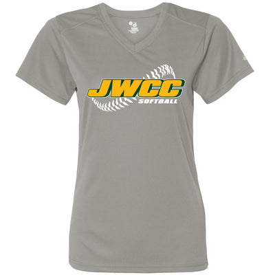 John Wood Softball Women's Drifit V-Neck