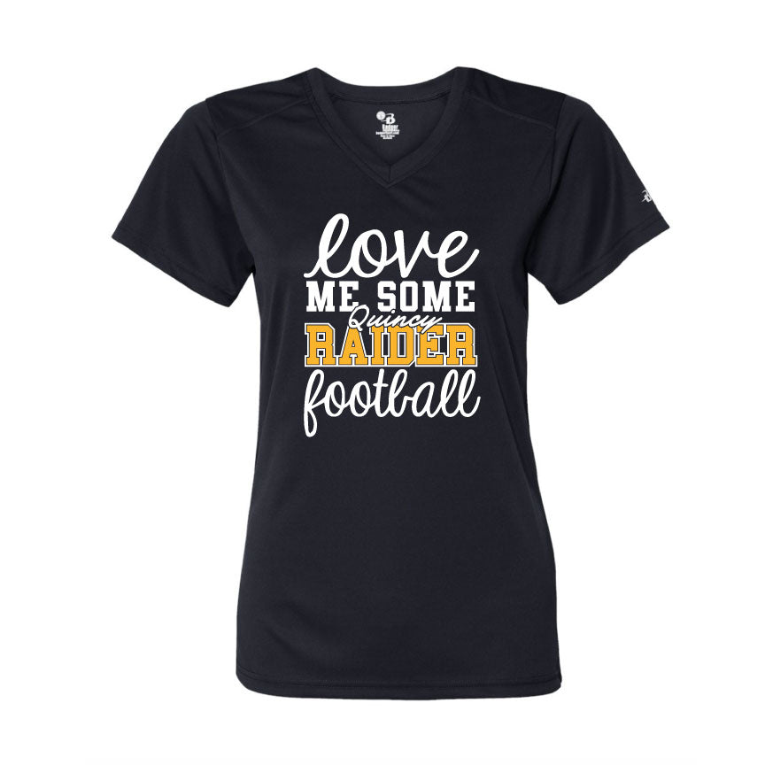 Raider Football 2019 Womens DriFit V-Neck Tee