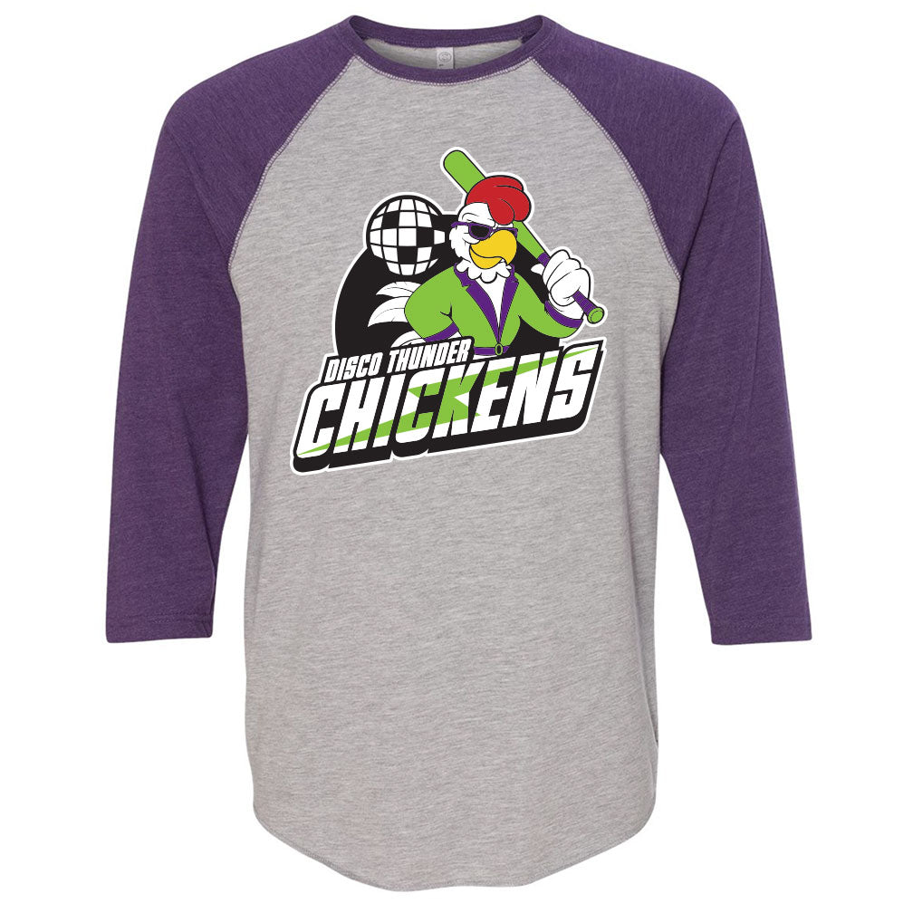 Disco Thunder Chickens Baseball Tee