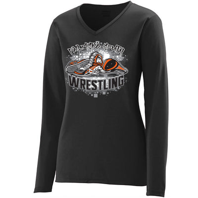 Palmyra Wrestling Women's Drifit V-Neck Long Sleeve
