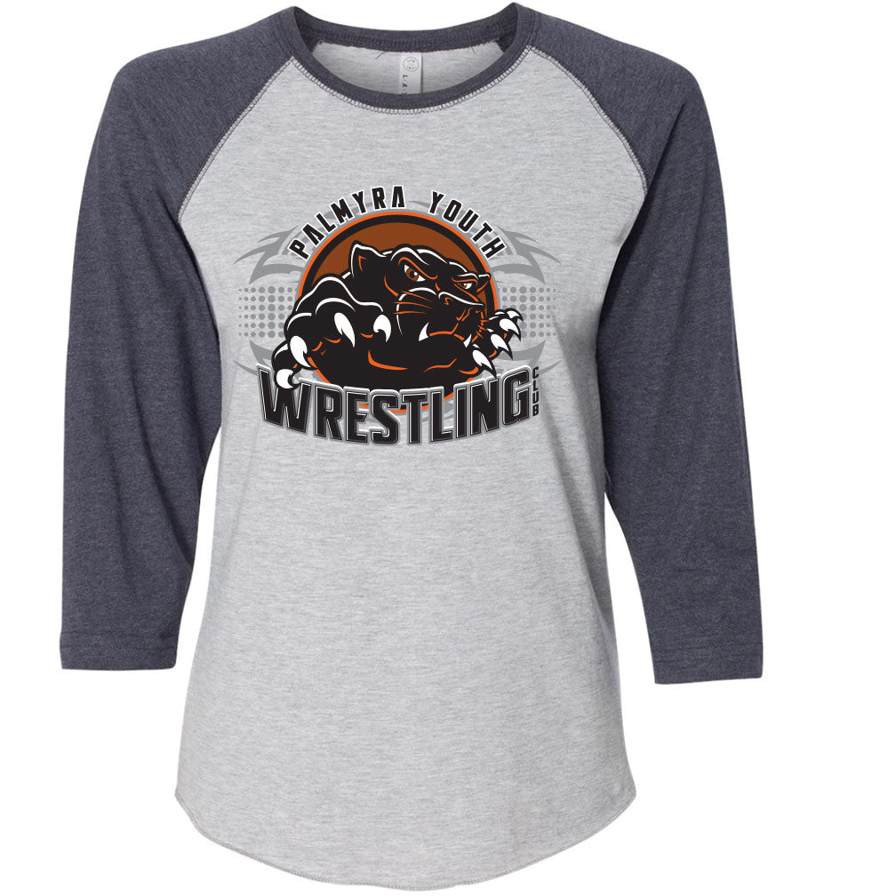 Palmyra Wrestling Woman's Baseball T-Shirt