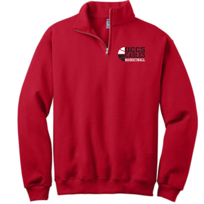 QCCS Winter Sports 1/4 Zip Jerzees Sweatshirt