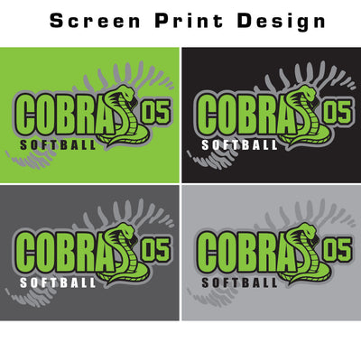 Cobras 05 Softball Ladies Electrify V-Neck