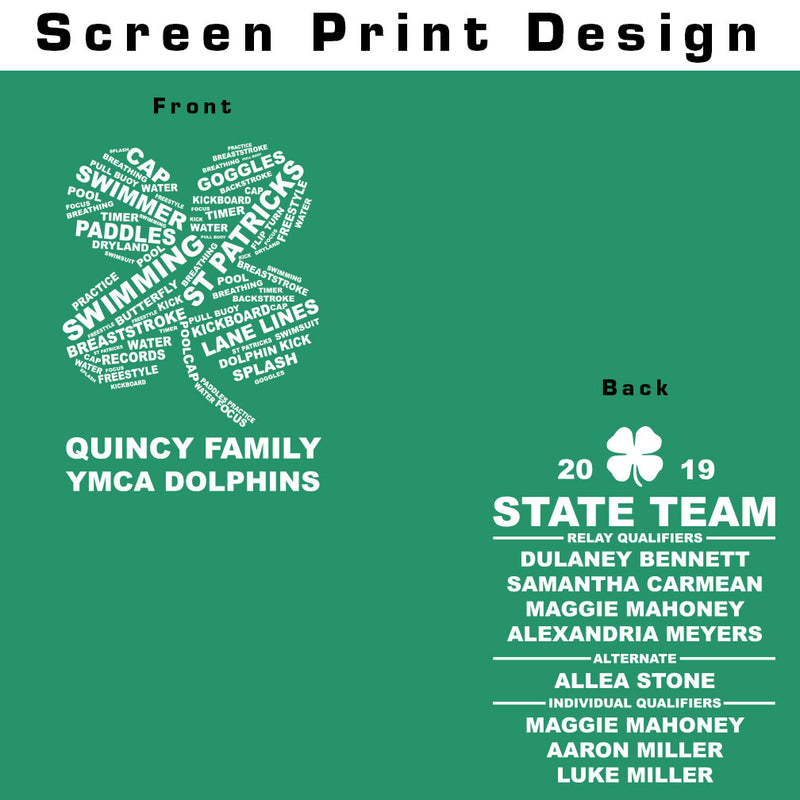 Quincy YMCA State Swim Team T-Shirt