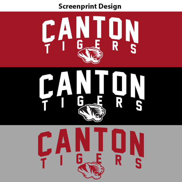 Canton Baseball Tee Arched Tiger