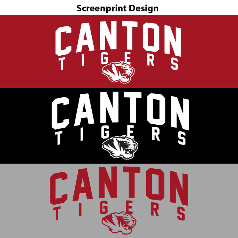 Canton Youth Drifit Long Sleeve Arched Tiger