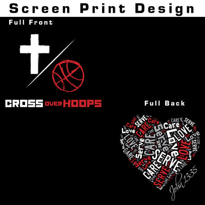 Cross Over Hoops Black Drifit Long Sleeve