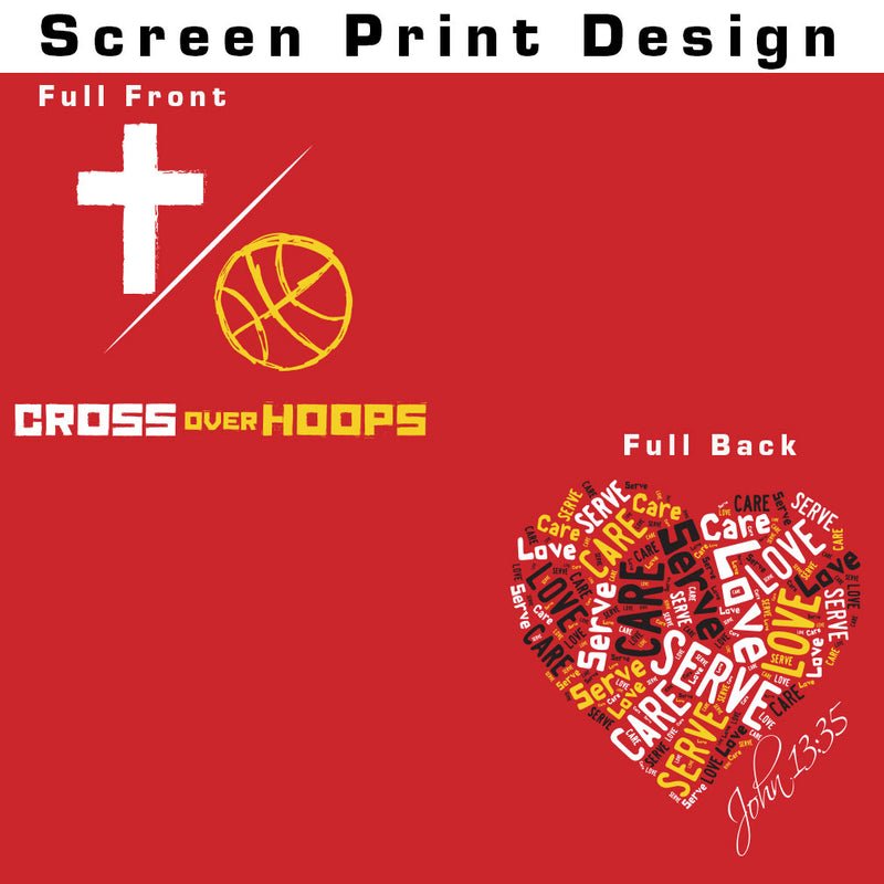 Cross Over Hoops Red Drifit Tee