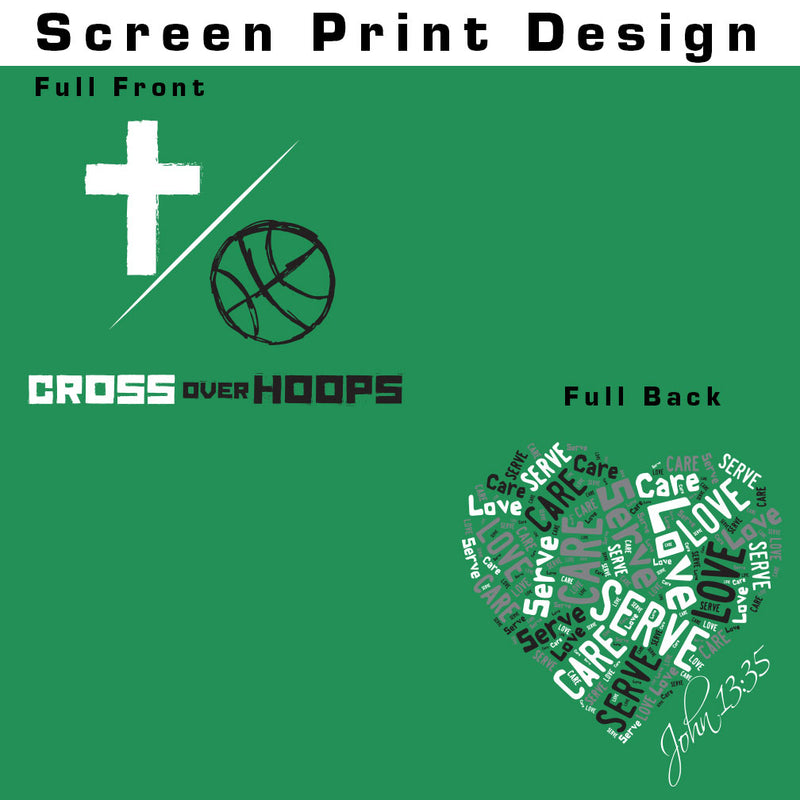 Cross Over Hoops Green Hoodie