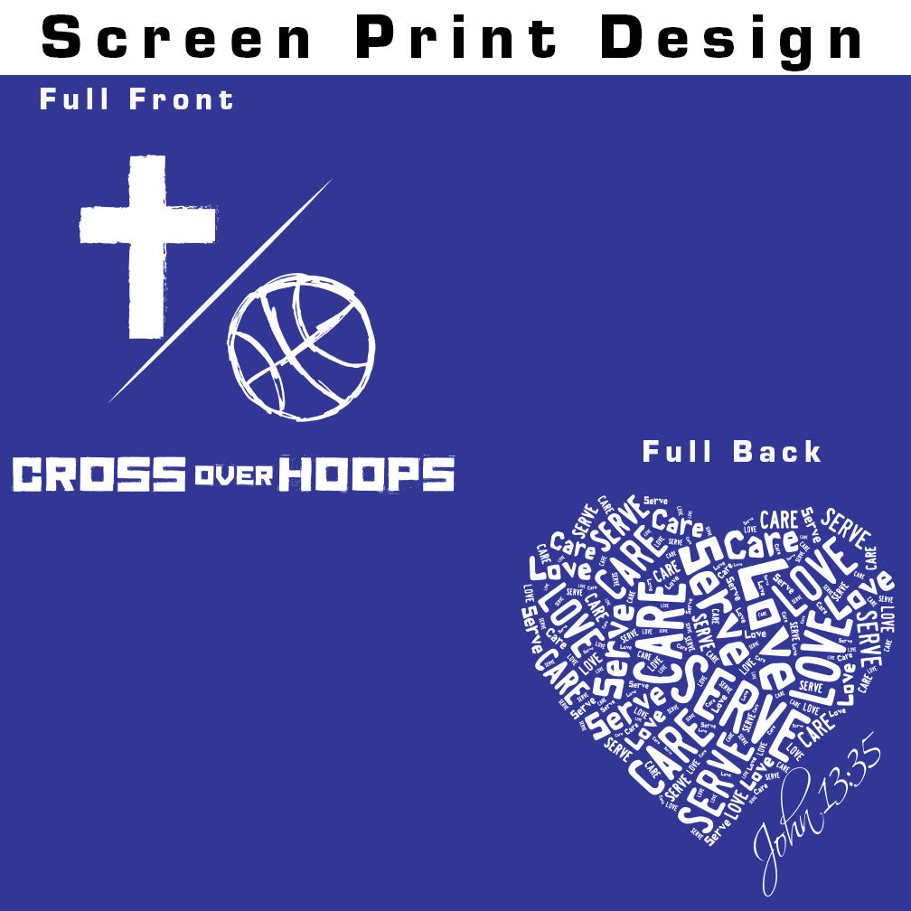 Cross Over Hoops Royal Blue Drifit T-Shirt A