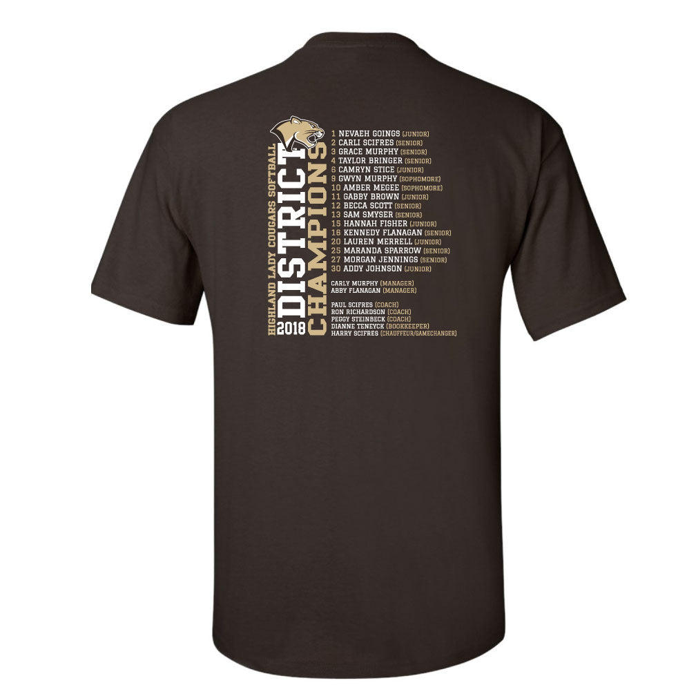 Highland Softball District Championship T-Shirt