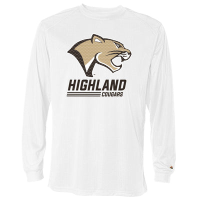 Highland Drifit Long Sleeve Stack Cougar