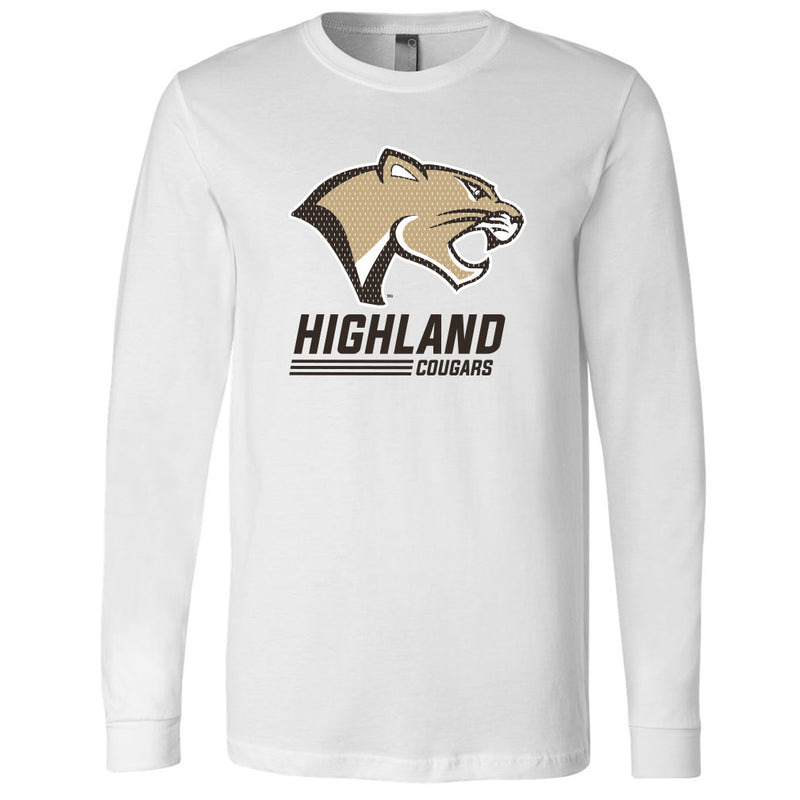 Highland Softstyle Long Sleeve Stack Cougar