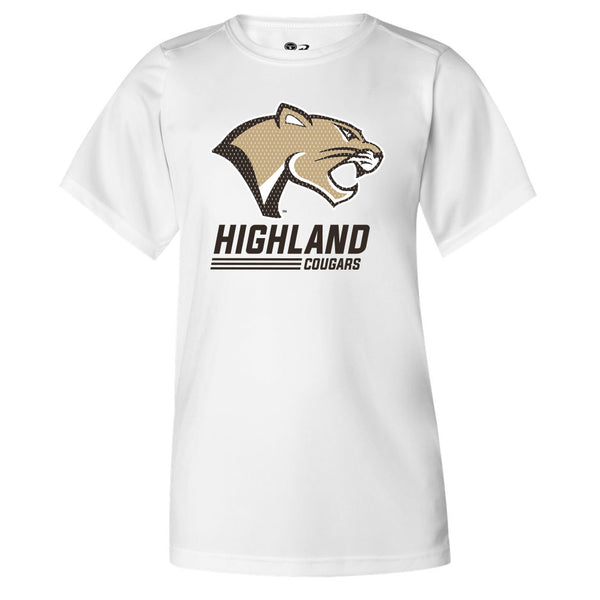 Highland Youth Drifit Tee Stack Cougar