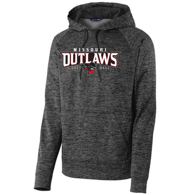 Outlaw Softball Electric Fleece Hoodie Applique