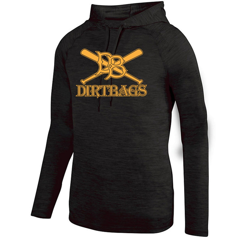 Dirtbag Baseball Drifit Lightweight Heather Hoodie
