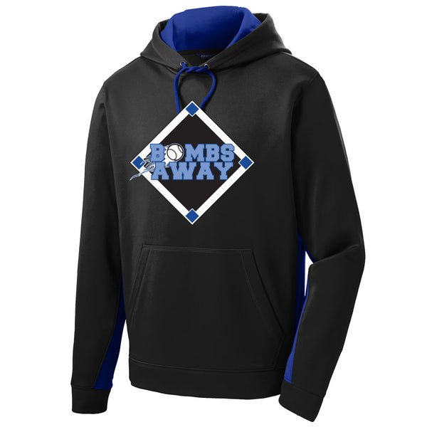Bombs Away Baseball Colorblock Drifit Hoodie