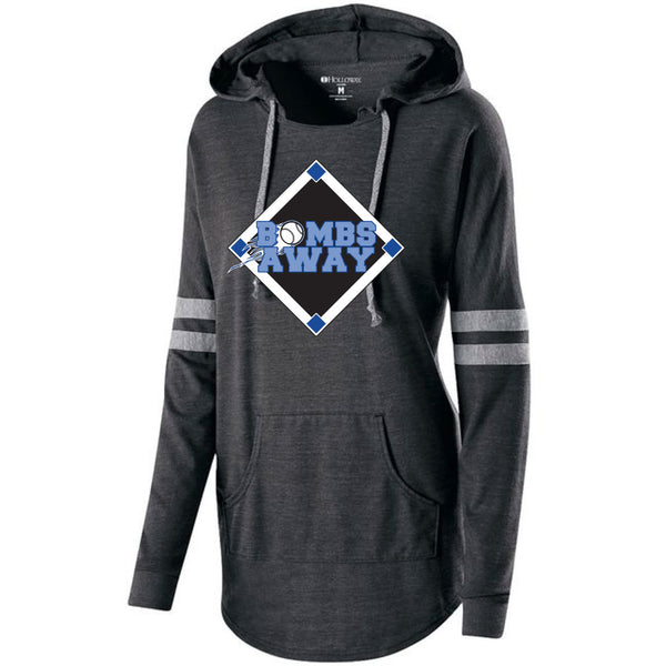 Bombs Away Baseball Ladies Hooded Pullover