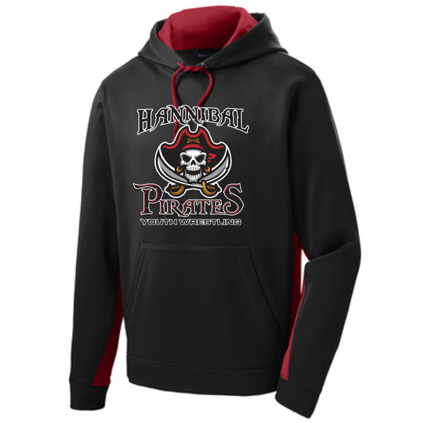 Hannibal Youth Wrestling Colorblock Drifit Hoodie